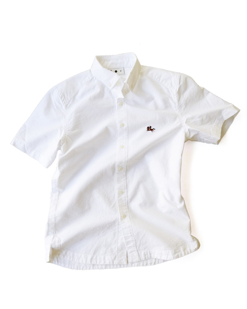 "Yoshiyuki / Jinbaori Shirt #19 ""Samurai on the horse"", white Image"