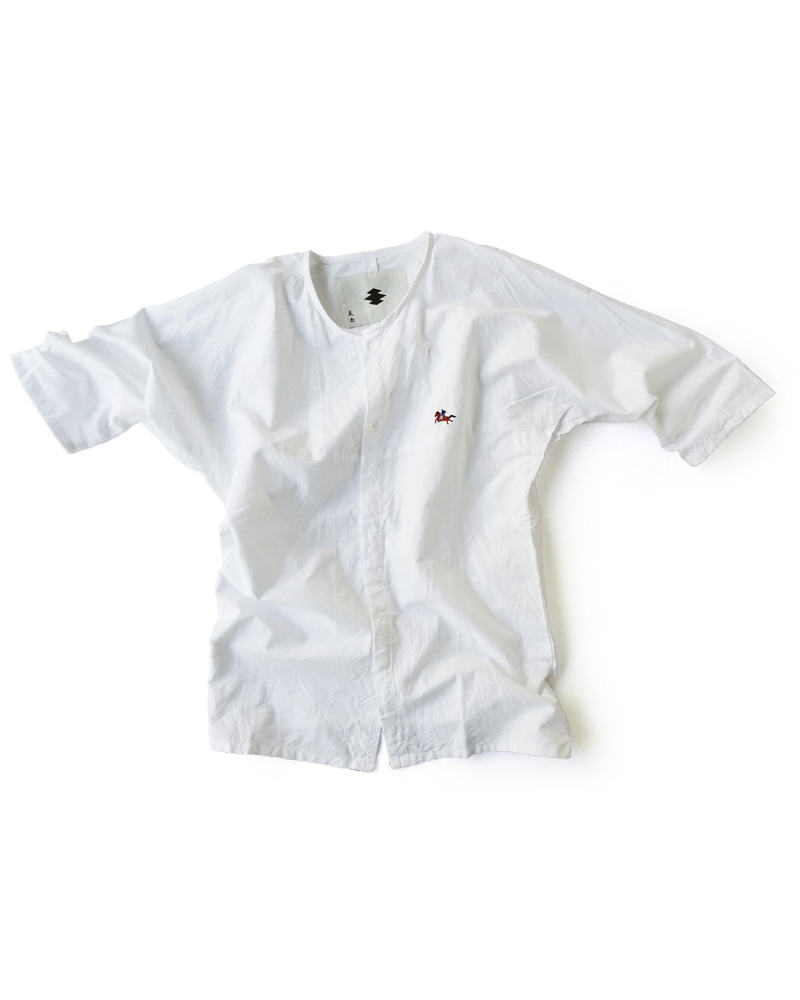 "Yoshiyuki / Dabo Shirt  ""Samurai on the horse"", white Image"