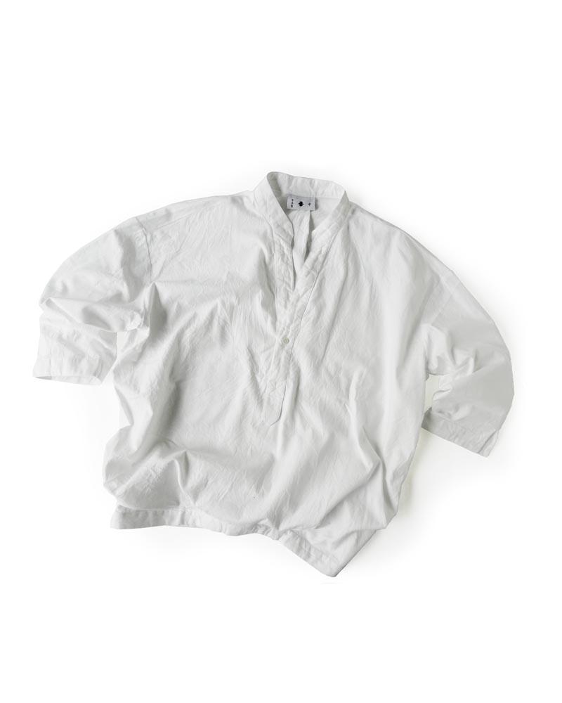 Yoshiyuki / Open-collar Pullover Shirt white Image