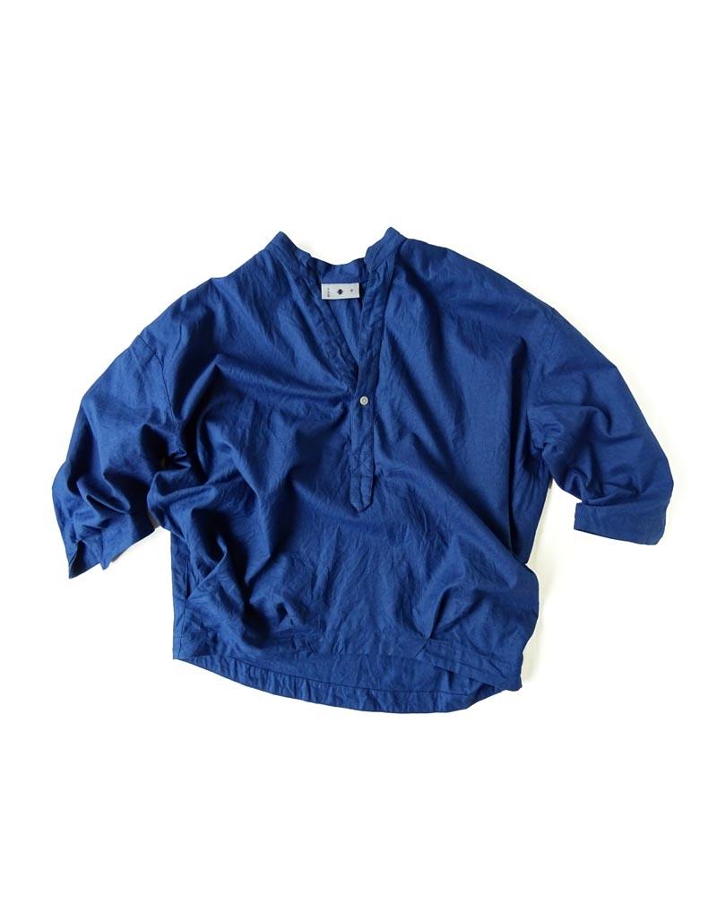 Yoshiyuki / Open-collar Pullover Shirt indigo Image