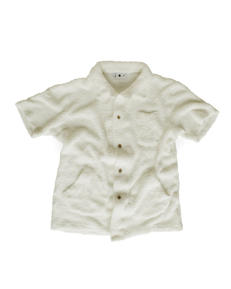 Yoshiyuki / Pile knit Work Shirt, white Image