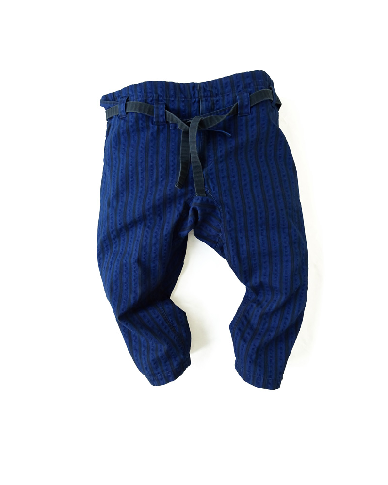 "Yoshiyuki / Karate pants #12  ""Stripes"" indigo Image"