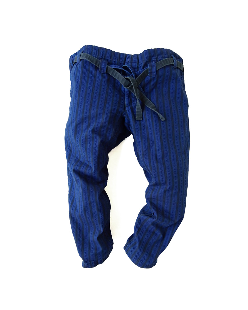 "Yoshiyuki / Karate pants #15  ""Stripes"" indigo Image"