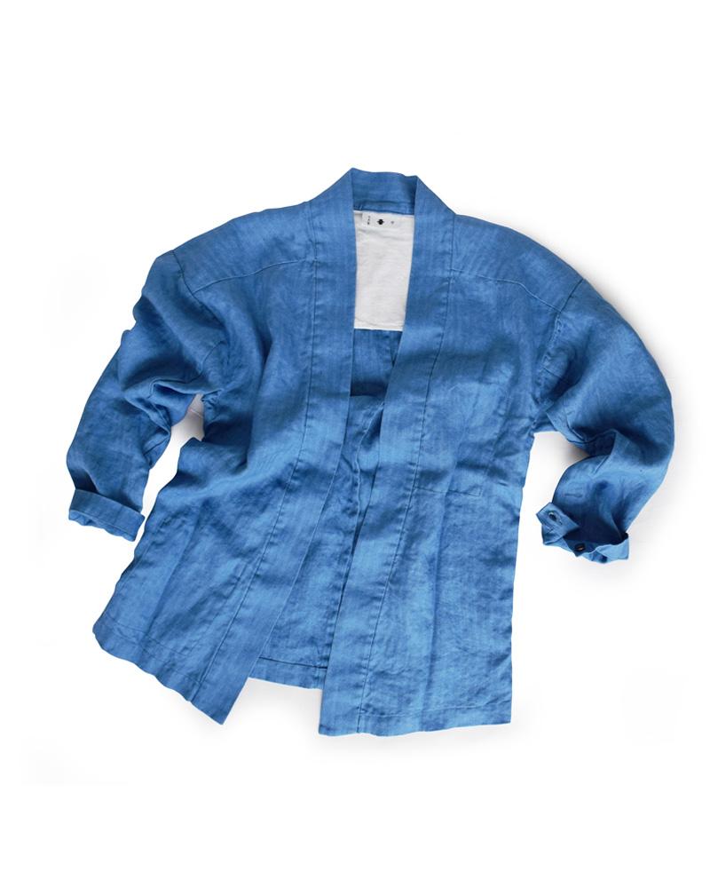 "Yoshiyuki / YAMATO #4 ""Heringbone"" blue Image"