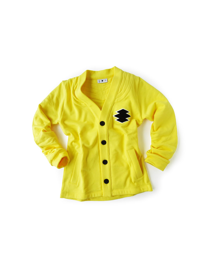 "Yoshiyuki / Sweat cardigan #2 ""Matsukawa Lozenges"", yellow Image"