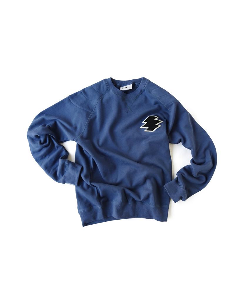 """Yoshiyuki / Sweat pullover """"Matsukawa Lozenges"""", indigo Image"""