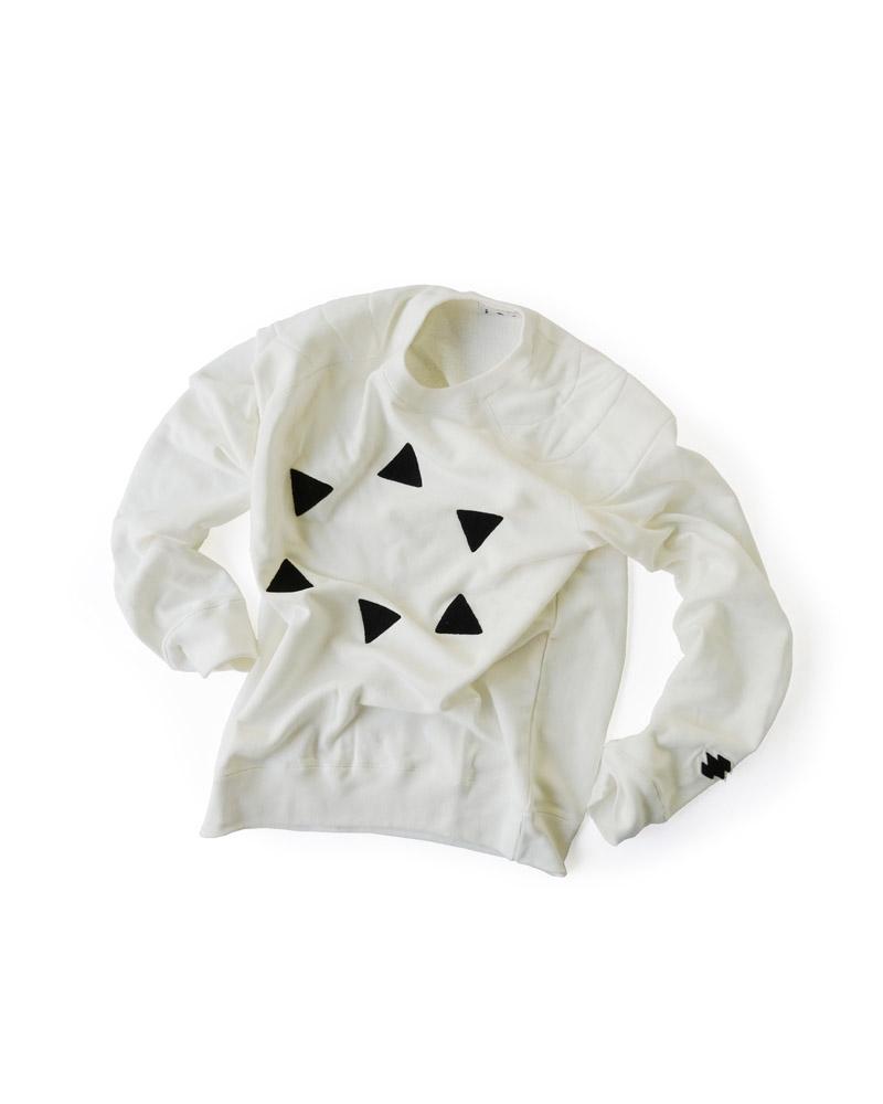 """Yoshiyuki / Sweat pullover """"Hanare-Kagome"""", white Image"""