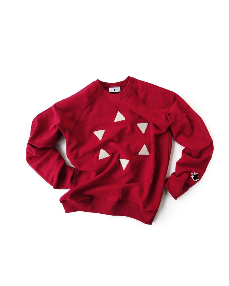 "Yoshiyuki / Sweat pullover ""Hanare-Kagome"", Red Image"