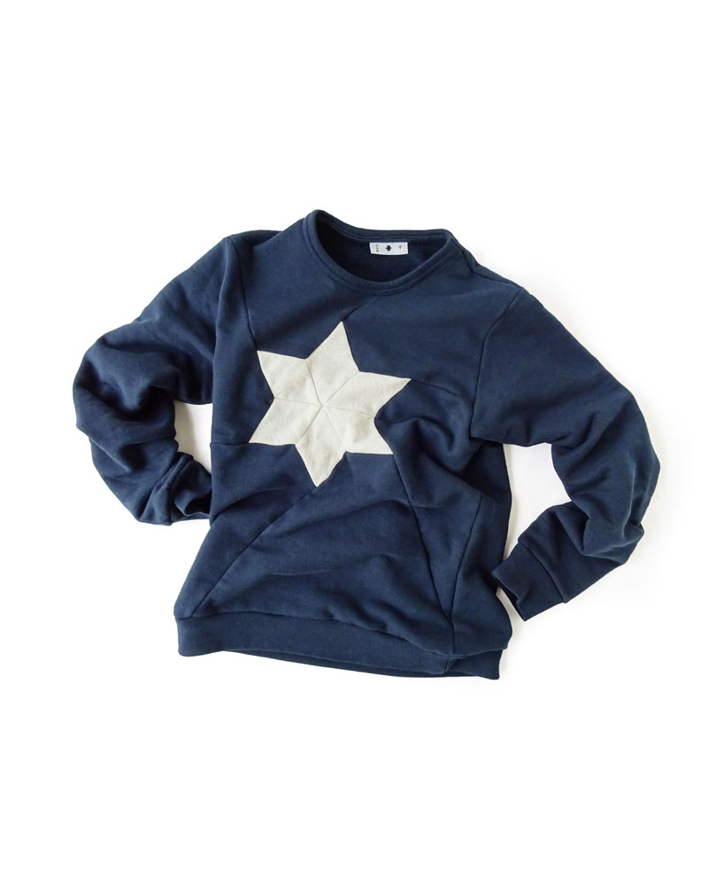"Yoshiyuki / Sweat pullover #2 ""Hemp Leaf"", navy Image"