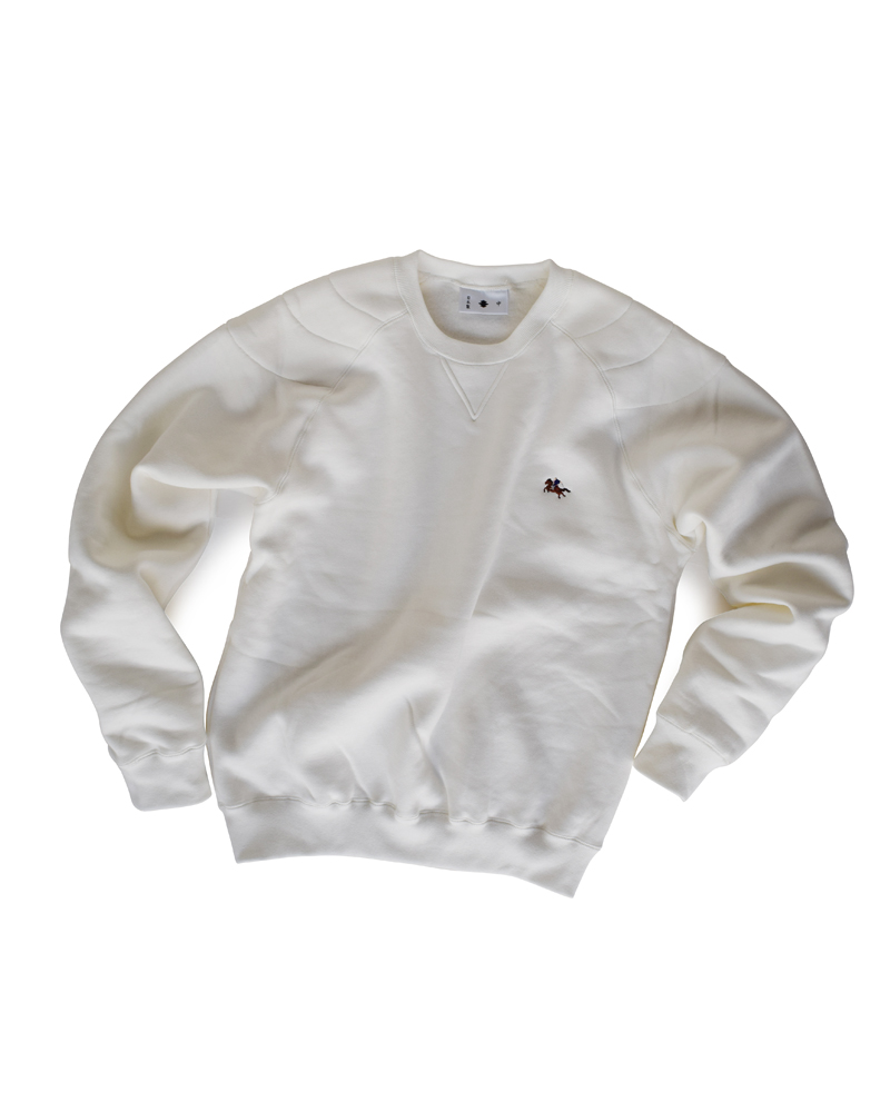 "Yoshiyuki / Sweat pullover #2 ""Samurai on the horse"" white Image"