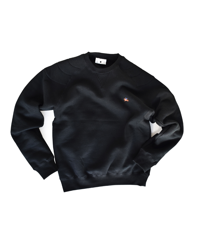 "Yoshiyuki / Sweat pullover #2 ""Samurai on the horse"" black Image"