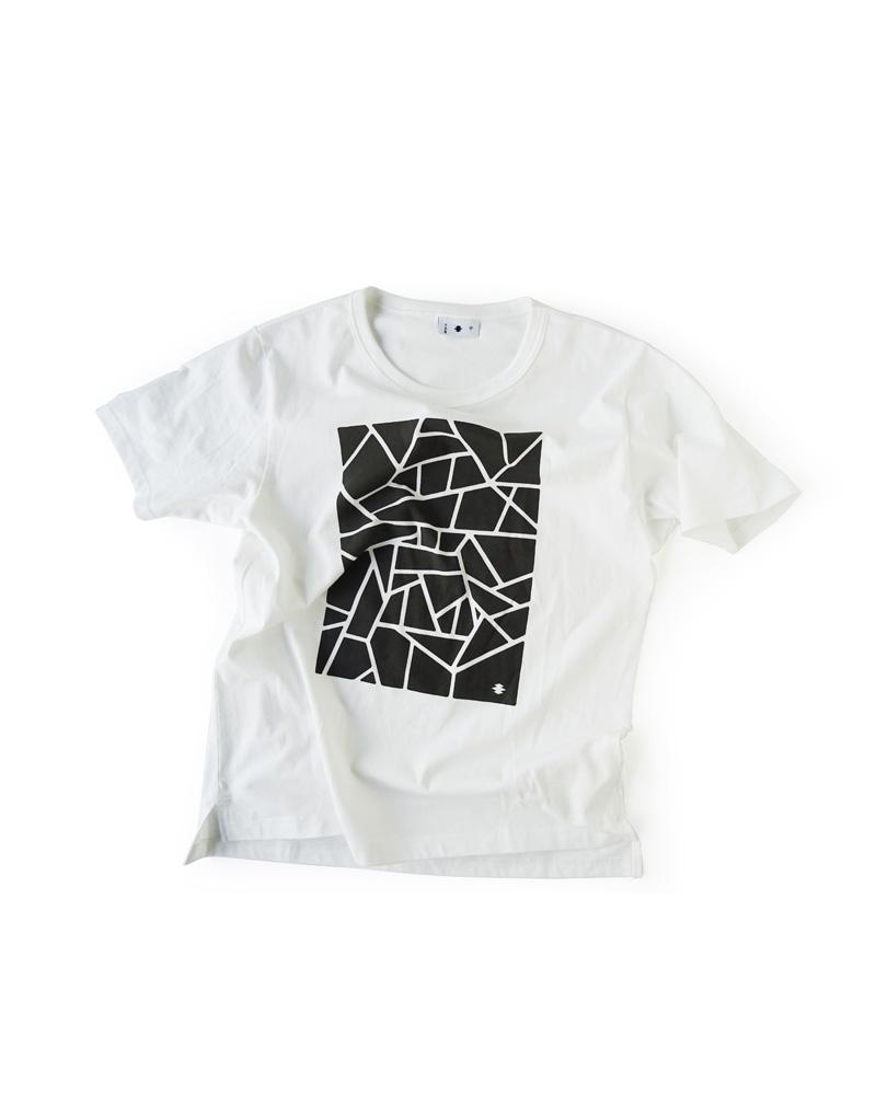 """Yoshiyuki / T-shirt  #84 """"KOKOROZASHI"""", white Image"""