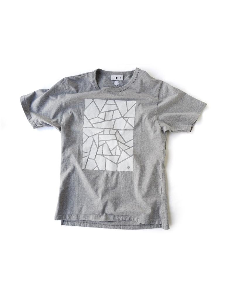 """Yoshiyuki / T-shirt  #84 """"KOKOROZASHI"""", frost gray Image"""