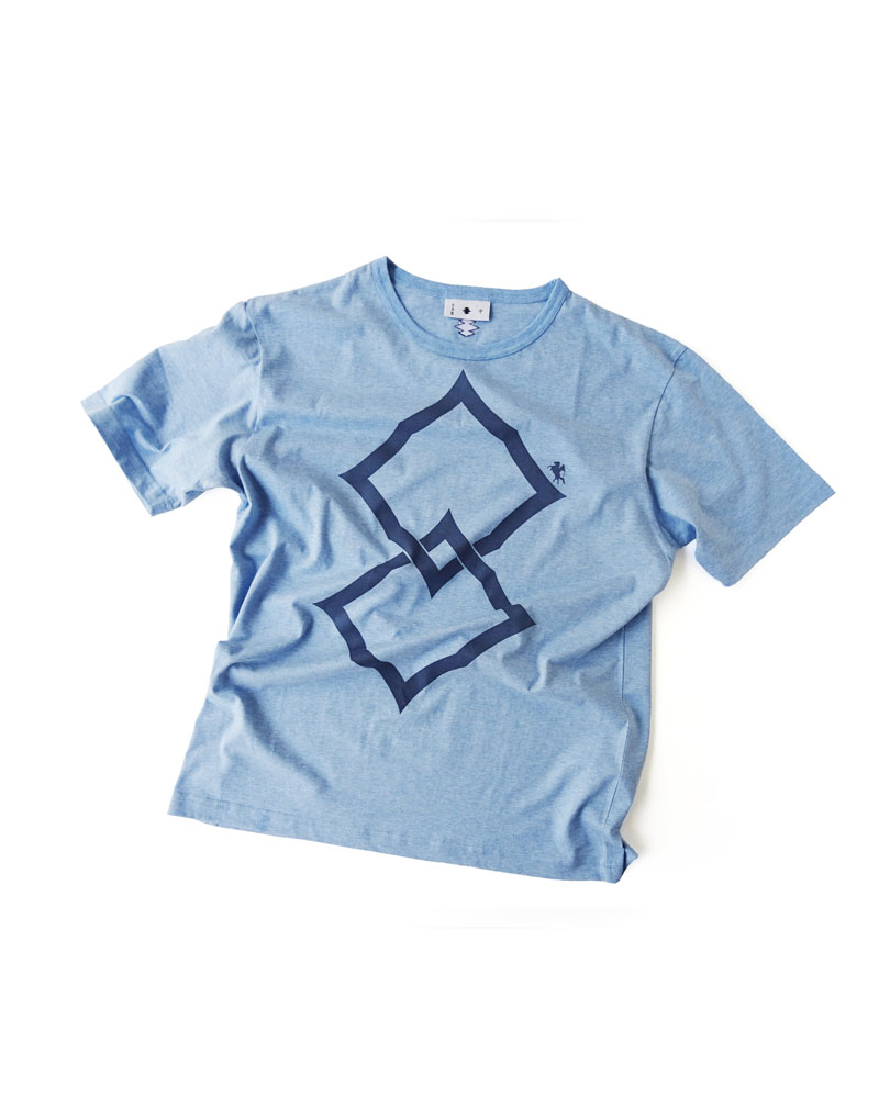 "Yoshiyuki / T-shirt #90 ""Double Spiny Diamond"" Sky Image"