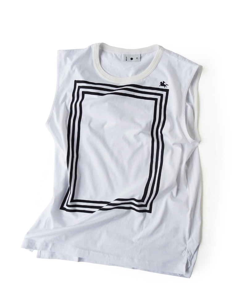 "Yoshiyuki / T-shirt #91 ""Triple Box"" White Image"