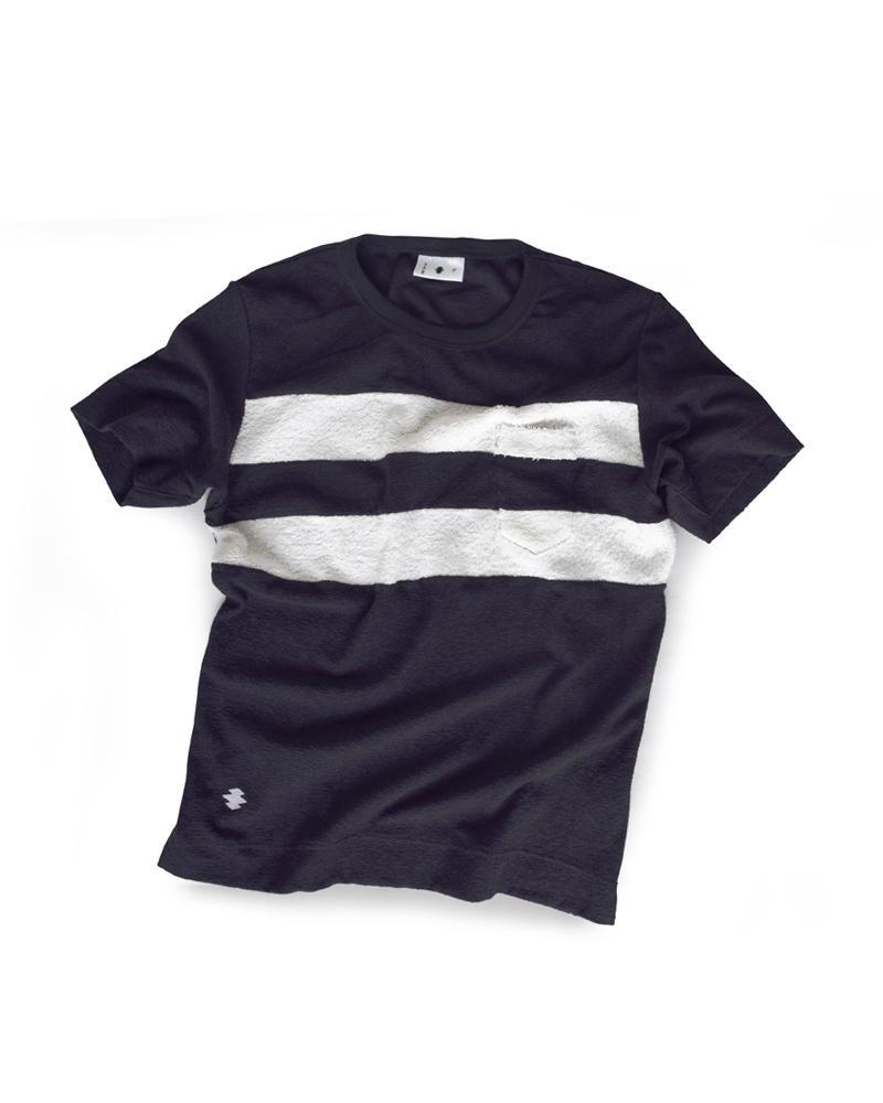 "Yoshiyuki / T-shirt #101 ""DOUBLE LINE"" Navy Image"