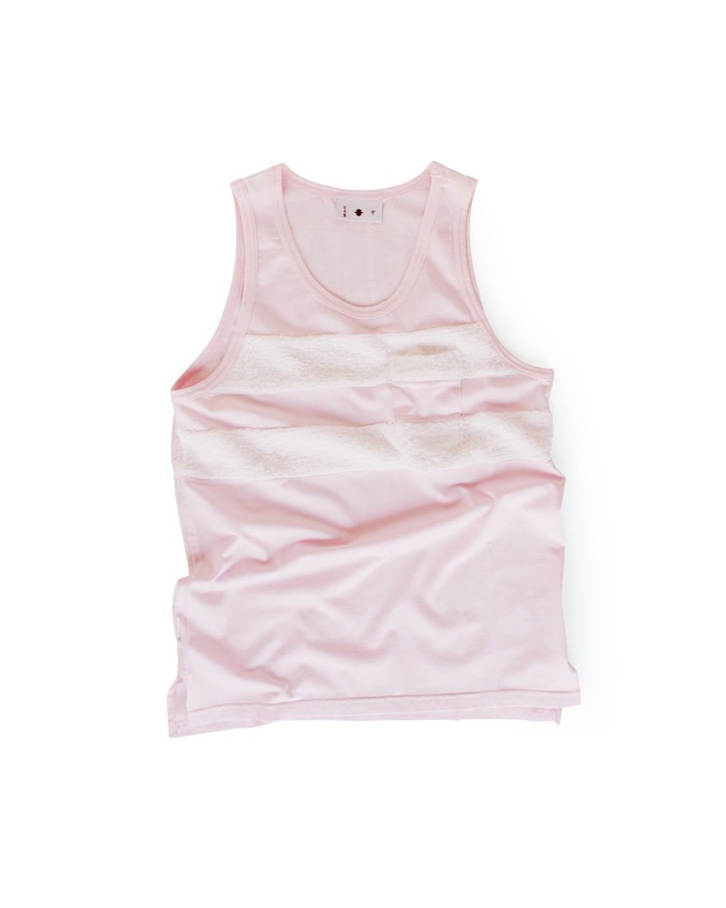 "Yoshiyuki / Tank top #4 ""Double Line"" Cherry Blossoms Image"