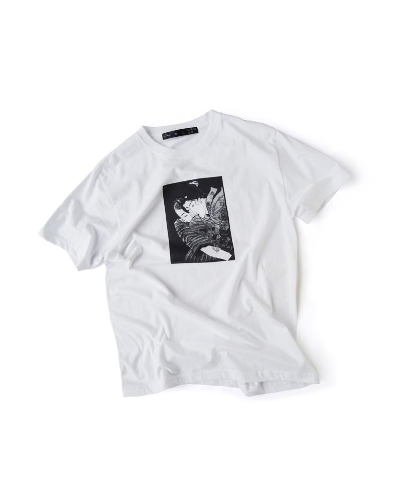 "OSA/ T-shirt  #0 white ""Totsu"" Image"