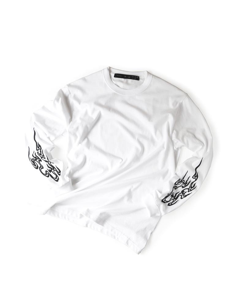 """OSA / T-shirt No.00 """"Homura"""" white Image"""