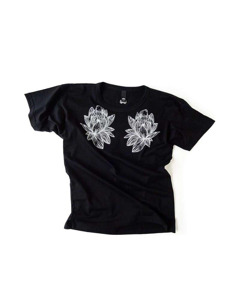 "OSA / T-shirt No.01 ""Hana"", black Image"