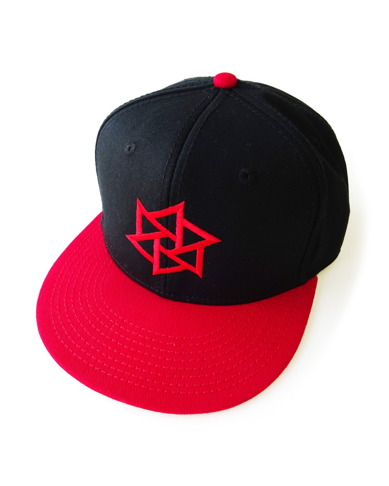 "OSA / Cap No.01 ""Rinne"", black and red Image"