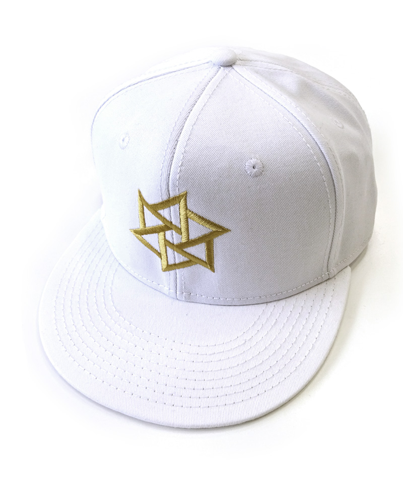 "OSA / Cap No.01 ""Rinne"", white (and gold) Image"