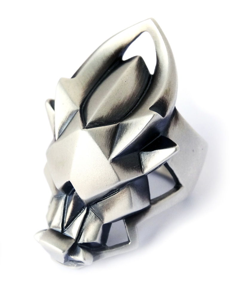 "OSA / Silver ring ""Dragon"" Image"
